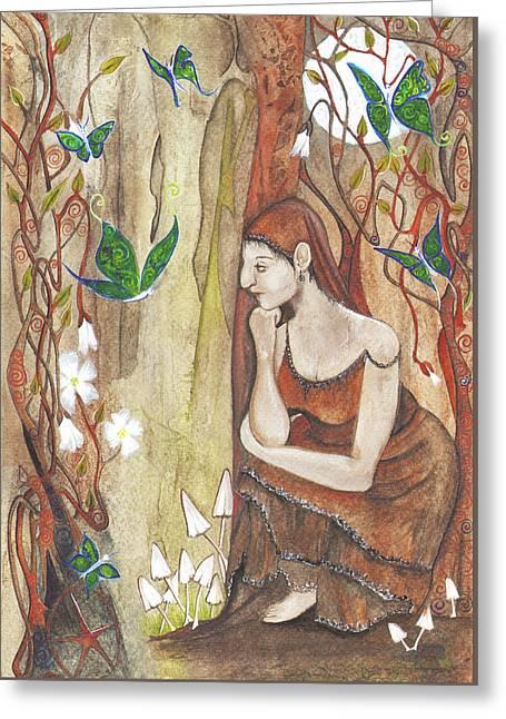 Secret Corner Greeting Card by Maria Forrester