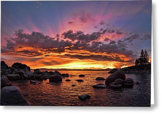 Secret Cove Sunset Greeting Card