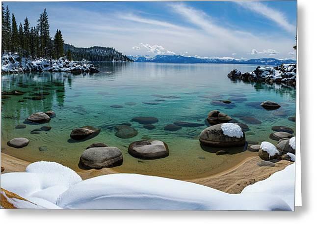 Secret Cove Winter Panorama By Brad Scott Greeting Card