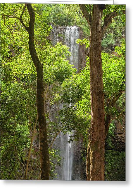 Secret Falls 3 - Kauai Hawaii Greeting Card
