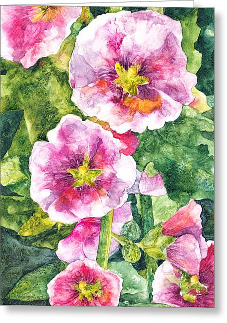 Greeting Card featuring the painting Secret Garden by Casey Rasmussen White