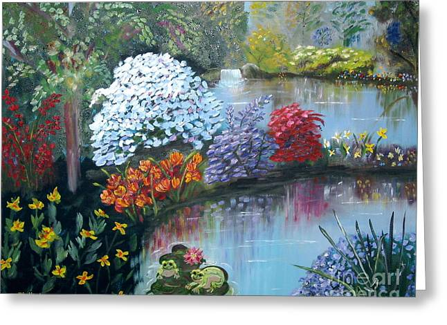 Secret Garden Greeting Card by Phyllis Kaltenbach