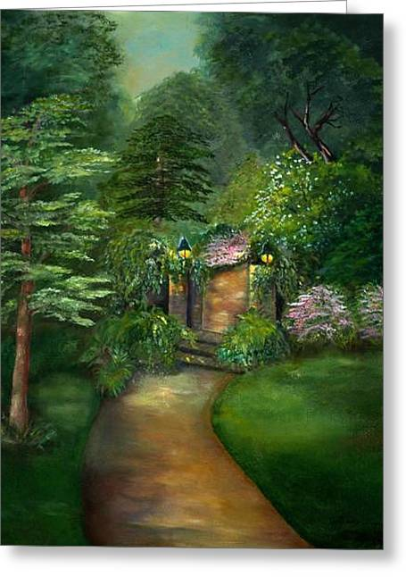 Secret Garden Greeting Card by Shirley Lawing