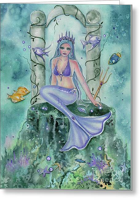 Secret Places Mermaid Art Greeting Card