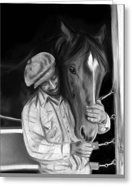 Secretariat And His Groom Greeting Card
