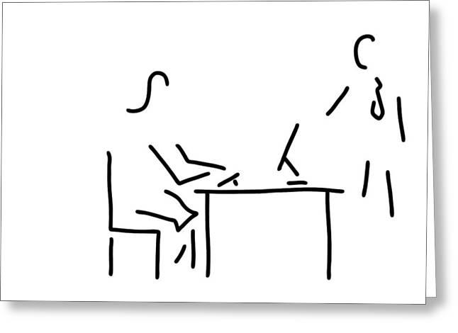 Secretary Typist Office Greeting Card