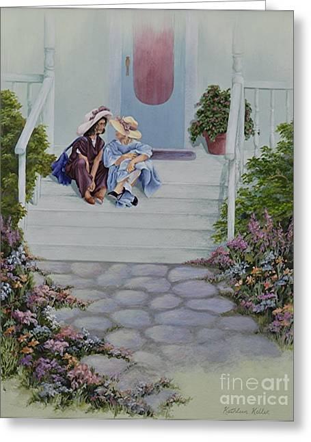 Secrets Greeting Card by Kathleen Keller