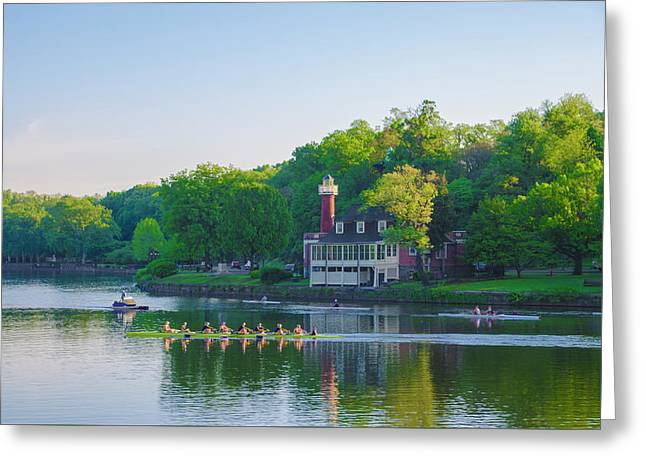 Sedgeley Club - Boathouse Row Greeting Card