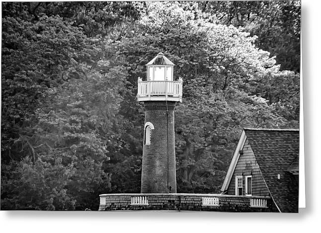 Greeting Card featuring the photograph Sedgely Club - Turtle Rock Lighthouse by Bill Cannon