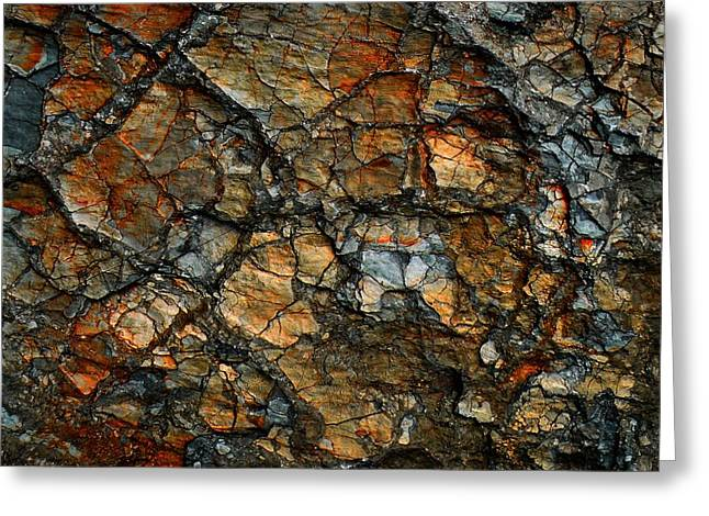 Sedimentary Abstract Greeting Card by Dave Martsolf