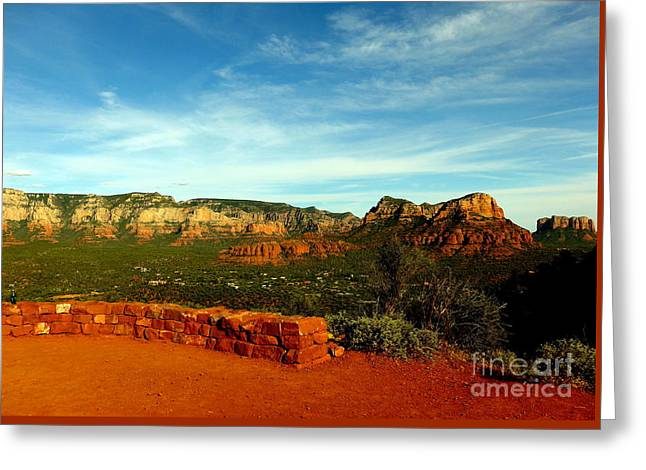 Sedona Airport Vortex Greeting Card by Marlene Rose Besso
