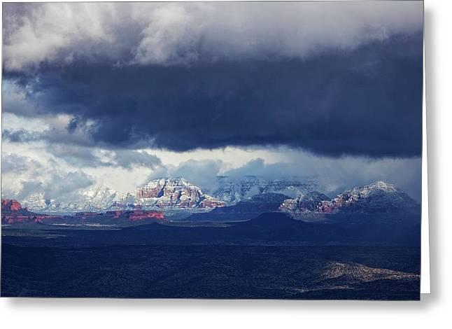 Sedona Area Third Winter Storm Greeting Card