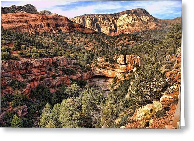 Sedona Arizona Ix Greeting Card by Jon Berghoff