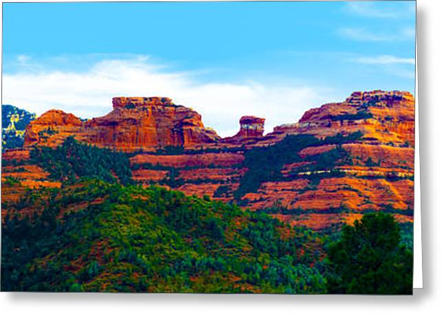Sedona Arizona Red Rock Greeting Card by Jill Reger