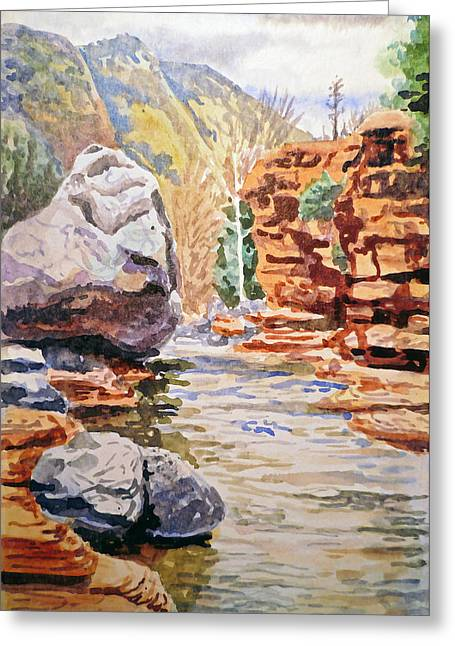Sedona Arizona Slide Creek Greeting Card