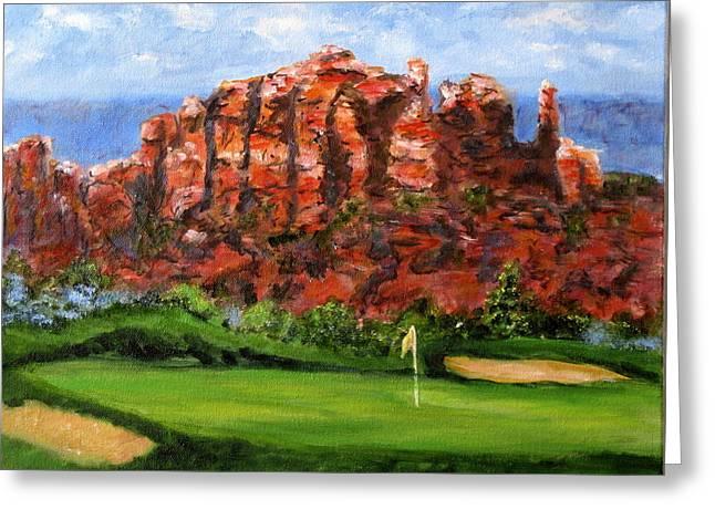 Sedona Golf Greeting Card by Thomas Restifo