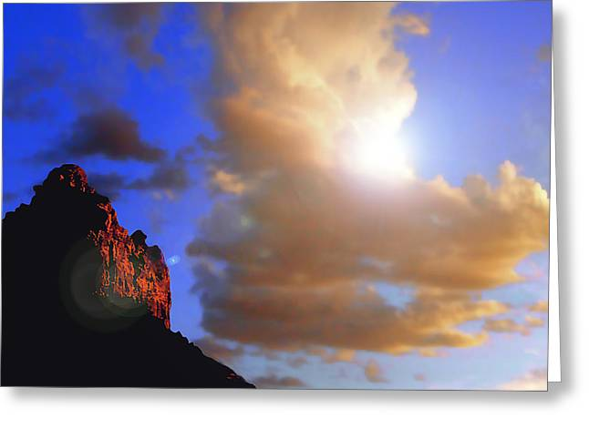 Sedona Mountain Cloud Sun Greeting Card