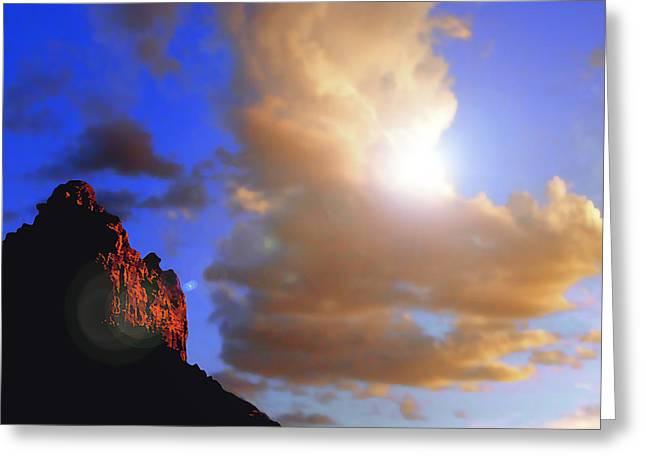 Sedona Mountain Cloud Sun Greeting Card