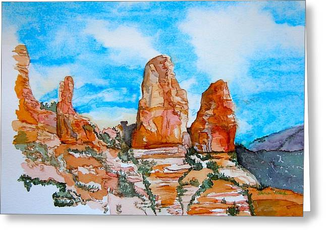 Sedona Red Rocks Greeting Card by Sharon Mick