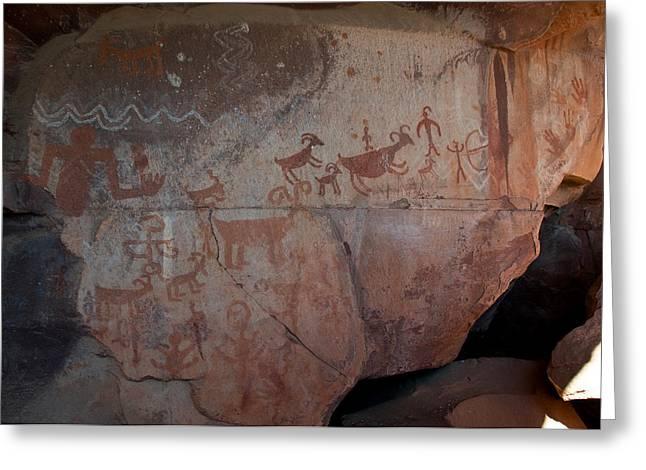 Sedona Rock Art Panel Greeting Card by David Sunfellow