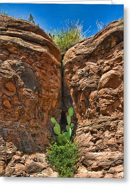 Greeting Card featuring the photograph Sedona Rocks by Lou  Novick
