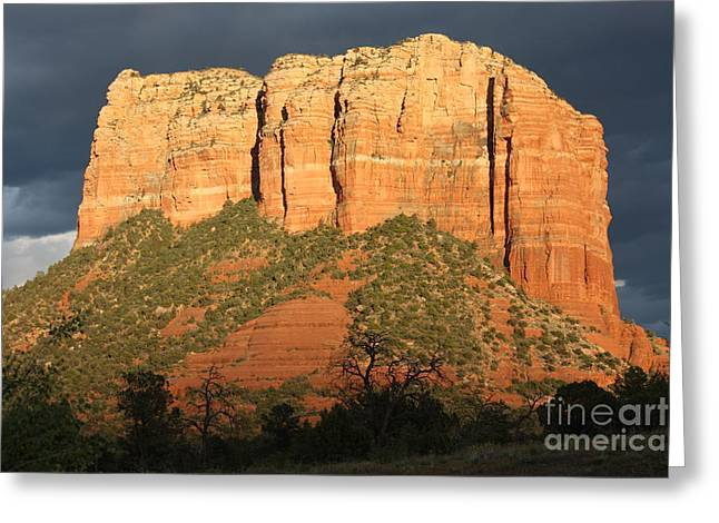 Red Rocks Of Sedona Greeting Cards - Sedona Sandstone Standout Greeting Card by Carol Groenen