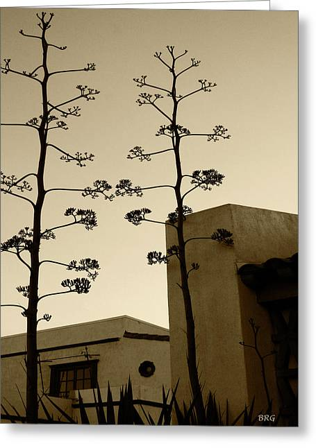 Sedona Series - Desert City Greeting Card by Ben and Raisa Gertsberg