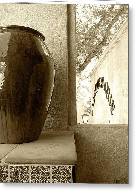 Sedona Series - Jug And Window Greeting Card by Ben and Raisa Gertsberg