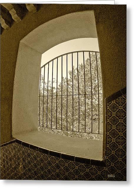 Sedona Series - Through The Window Greeting Card by Ben and Raisa Gertsberg