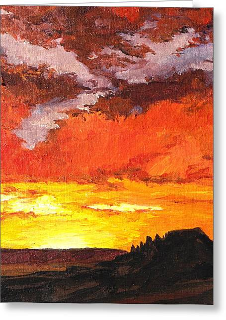 Sedona Sunset 2 Greeting Card