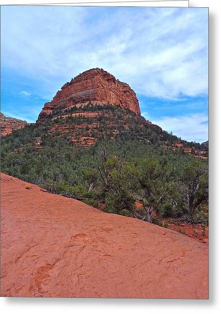 Sedona Greeting Card by Victoria Lakes