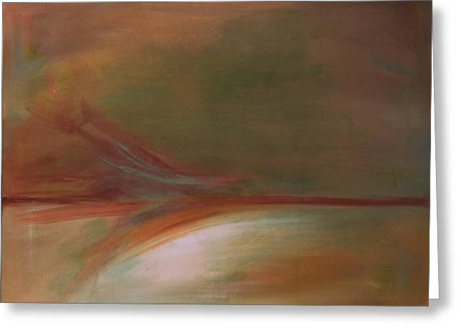 Sedona Vortex Abstract Greeting Card by Julie Lueders