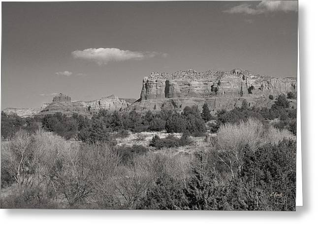 Sedona Winter Greeting Card by Gordon Beck
