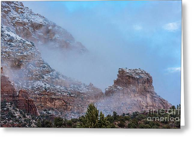 Greeting Card featuring the photograph Sedona Winter by Sandra Bronstein