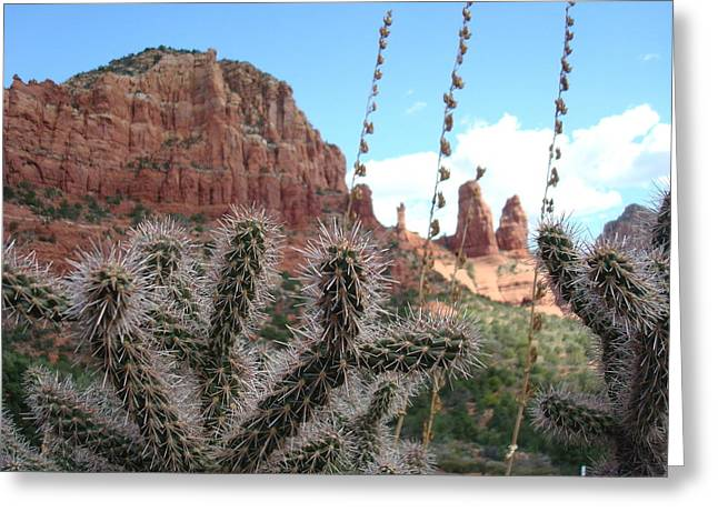 Sedona's Beauty Greeting Card by Nicholas Uzunyan