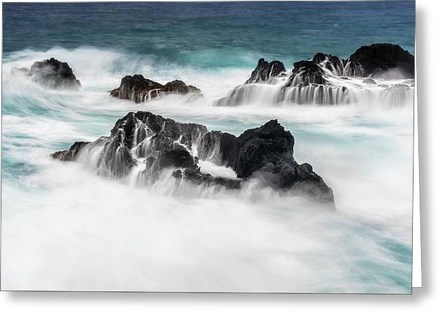 Greeting Card featuring the photograph Seduced By Waves by Jon Glaser