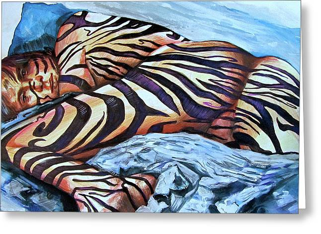 Seduction Of Stripes Greeting Card