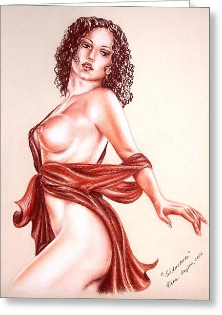 Seductrice Greeting Card by Vera Sayous