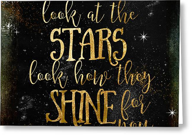See How The Stars Shine Greeting Card