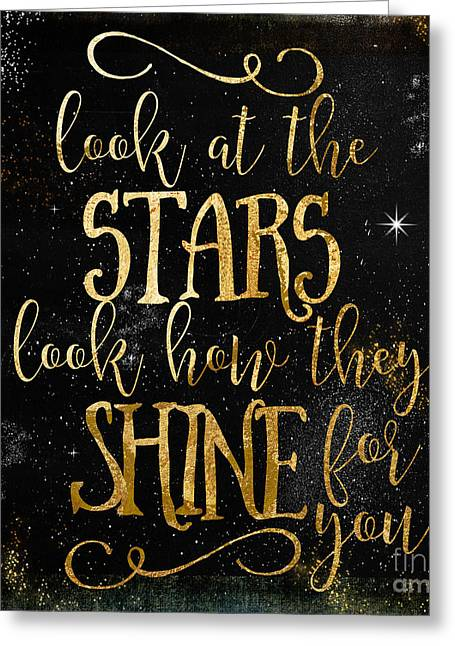 See How The Stars Shine Greeting Card by Mindy Sommers