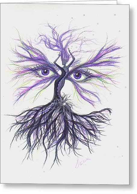 Greeting Card featuring the drawing See Lavender by Dawn Fairies