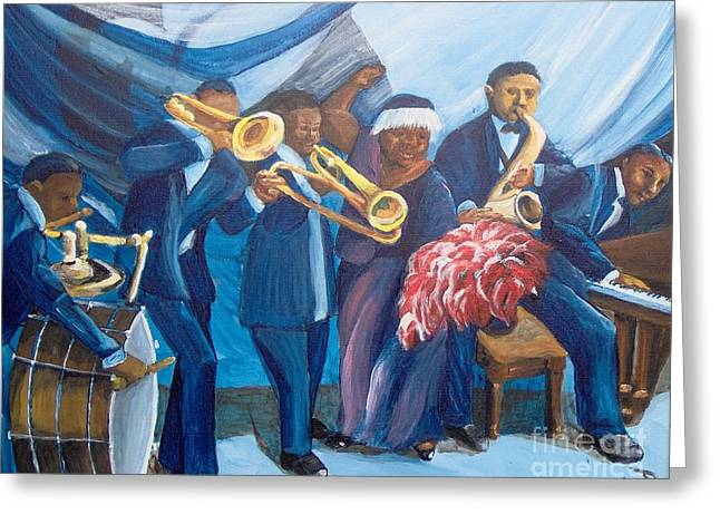Greeting Card featuring the painting See The Music by Saundra Johnson