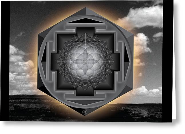 Seed Of Life Desert Mandala Greeting Card