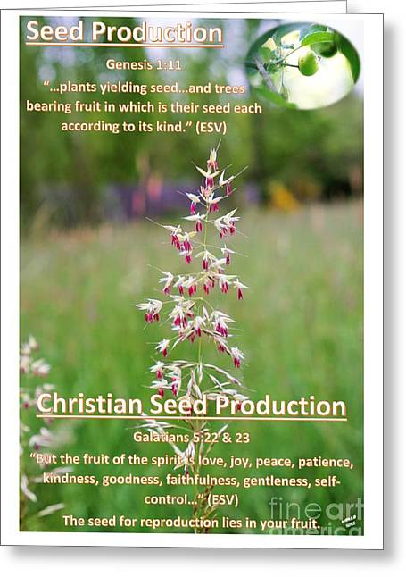 Seed Production Greeting Card
