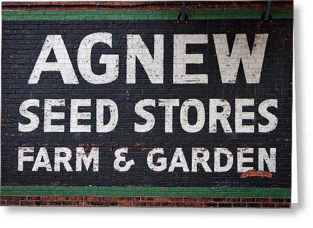 Seed Store Sign Greeting Card by Stuart Litoff