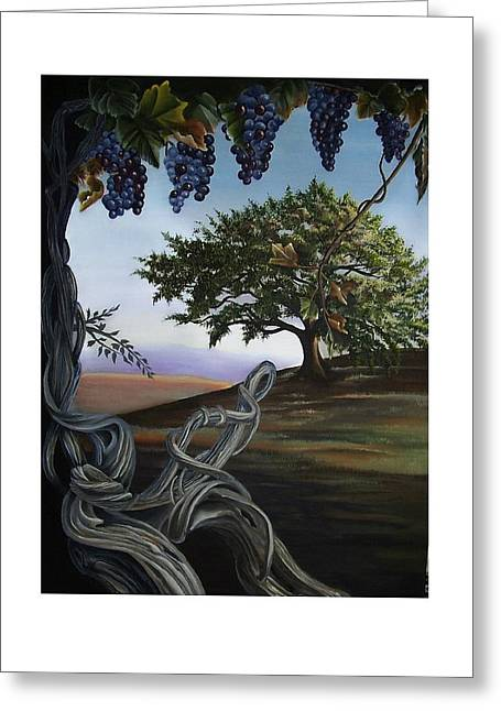 Seeds Of Eden Greeting Card by Kathleen Romana