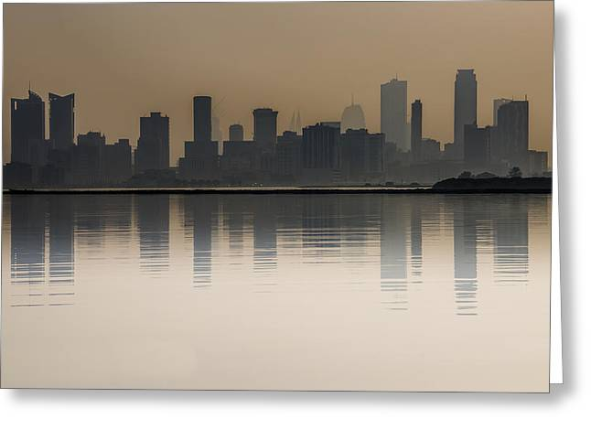 Seef At Sunrise Over The Sea Greeting Card by John Grummitt