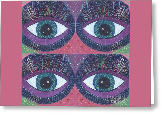 Seeing Double - Tjod 38 Compilation Greeting Card by Helena Tiainen
