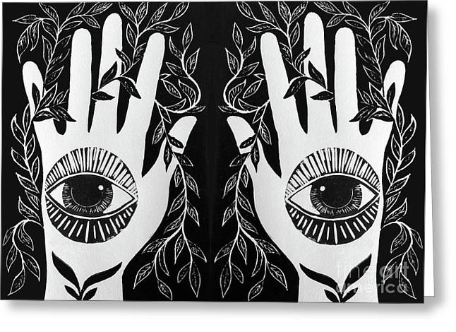 Seeing Hands Greeting Card