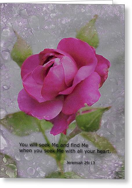Seek Me With All Your Heart Greeting Card